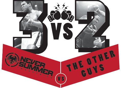 Never Summer vs The Other Guys. 3x2
